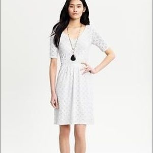 Banana Republic crochet print Mad Men dress